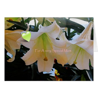 Beautiful Lily Special Mother's day Greeting Card