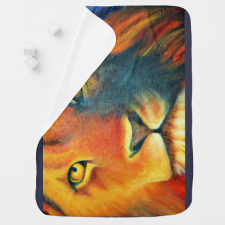 Beautiful Lion Head Portrait Regal and Proud Baby Blanket