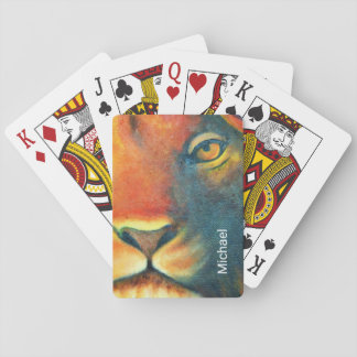 Beautiful Lion Head Portrait Regal and Proud Playing Cards