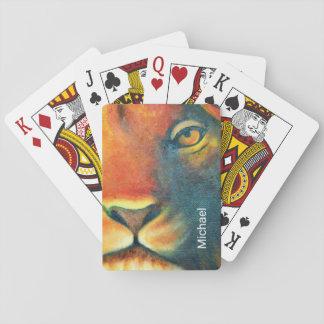 Beautiful Lion Head Portrait Regal and Proud Poker Deck