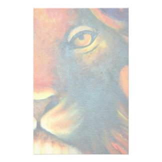 Beautiful Lion Head Portrait Regal and Proud Stationery Paper