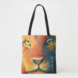 Beautiful Lion Head Portrait Regal and Proud Tote Bag