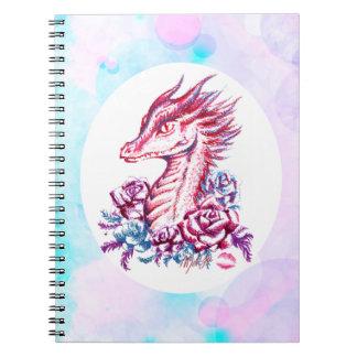Beautiful Lipstick Dragon Art Notebook