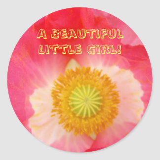 Beautiful Little Girl! stickers It's a Girl Baby