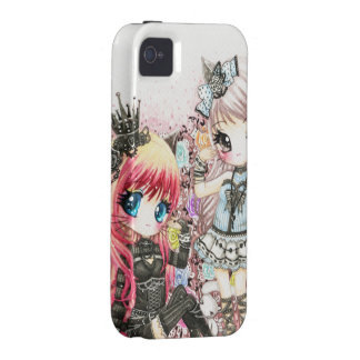 Beautiful lolita cat girls iPhone 4 covers