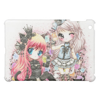 Beautiful lolita cat girls iPad mini cover