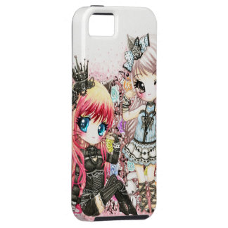 Beautiful lolita cat girls tough iPhone 5 case