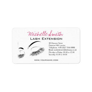 Beautiful long eyelashes Lash Extension Address Label