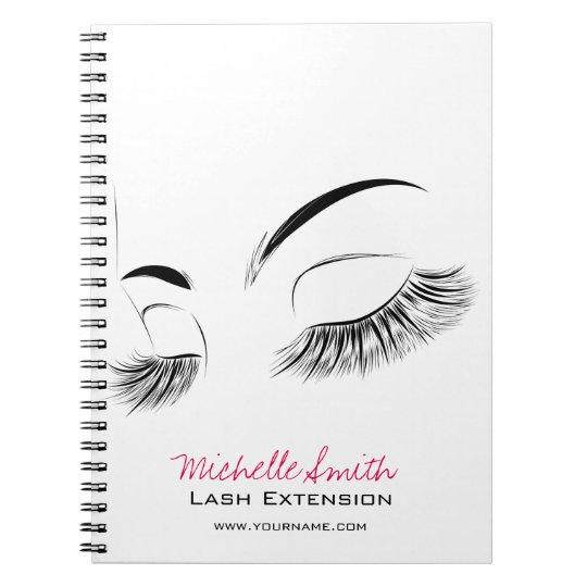 Beautiful long eyelashes Lash Extension Notebooks