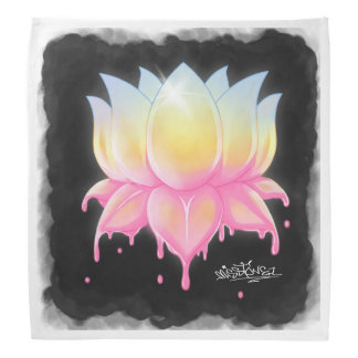 Beautiful Lotus Flower Bandana