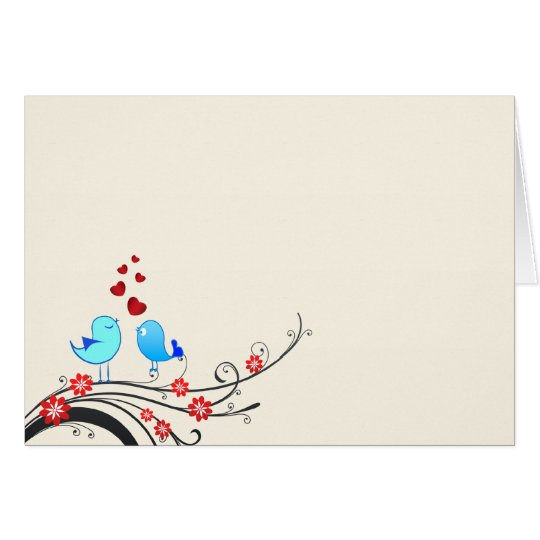 Beautiful love birds card
