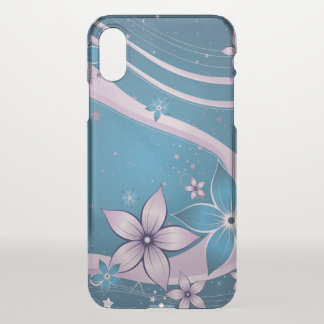beautiful love blue purple flowers swirl art iPhone x case