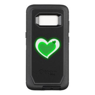 beautiful love green light hearts OtterBox defender samsung galaxy s8 case
