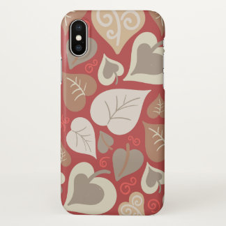beautiful love heart leafs iPhone x case