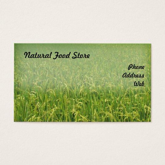 Beautiful Lush Green Rice Field Business Card
