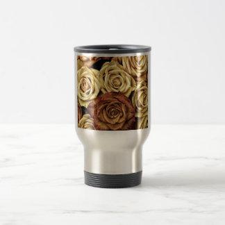 beautiful luxury roses travel mug
