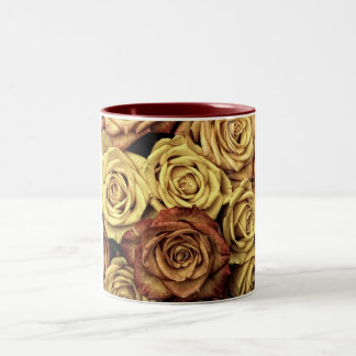 beautiful luxury roses Two-Tone coffee mug