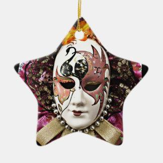 Beautiful Male Carnival Mask Ceramic Star Decoration