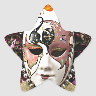 Beautiful Male Carnival Mask Star Sticker