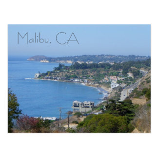 Beautiful Malibu Coast Postcard