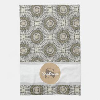 Beautiful Mandala w/Monogram Tea Towel