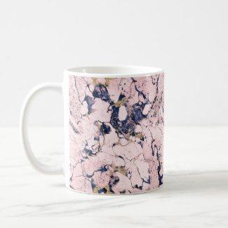 Beautiful marble on  coffee mug