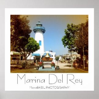 Beautiful Marina Del Rey Poster