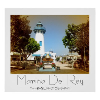 Beautiful Marina Del Rey Poster! Poster