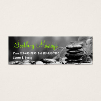 Beautiful Massage Mini Business Cards