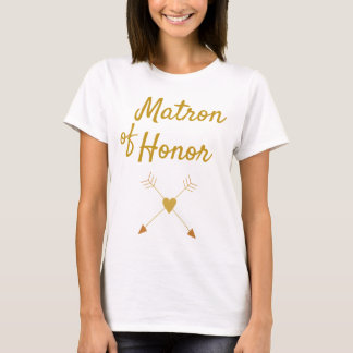 Beautiful Matron of Honor Gift T-Shirt