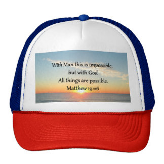 BEAUTIFUL MATTHEW 19:26 PHOTO DESIGN CAP