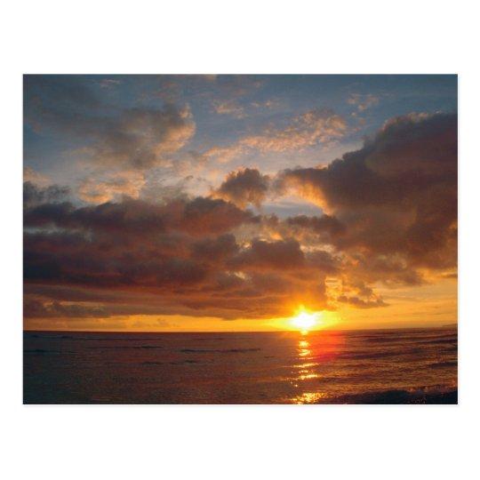 Beautiful Maui Sunset Postcard