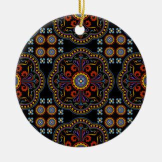 Beautiful Medieval Pattern Round Ceramic Decoration