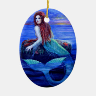 Beautiful Mermaid Fantasy Art Christmas Ornament