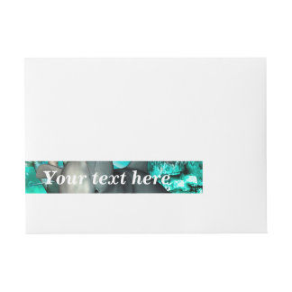 Beautiful mermaid with cute dolphin wraparound address label