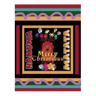 Beautiful Merry Christmas Hakuna Matata Latest Art Postcard