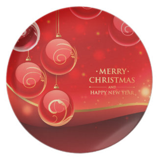 Beautiful Merry Christmas Plate