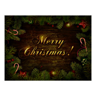 Beautiful Merry Christmas Poster