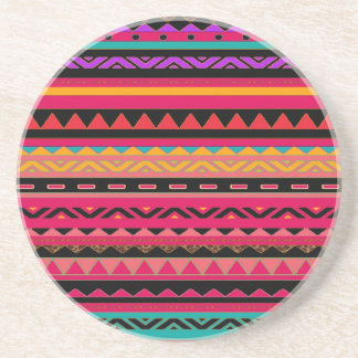 Beautiful Mexican Aztec Colorful Pattern Coaster