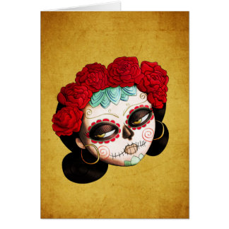 Beautiful Mexican Catrina Greeting Card