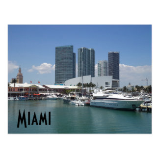 Beautiful Miami Postcard