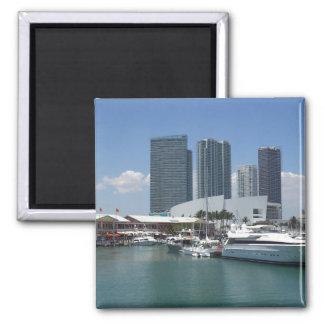 Beautiful Miami Square Magnet