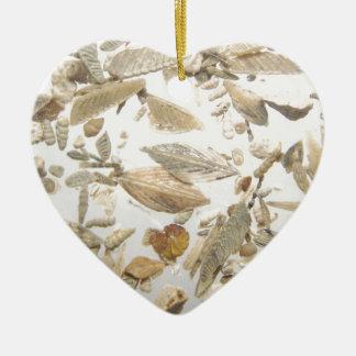 Beautiful microfossils photo pattern christmas ornament