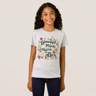 Beautiful Minds Inspire Others Quote Jersey Shirt