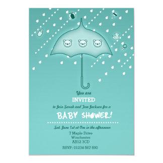 "Beautiful Modern Baby Shower Invitation 5"" X 7"" Invitation Card"