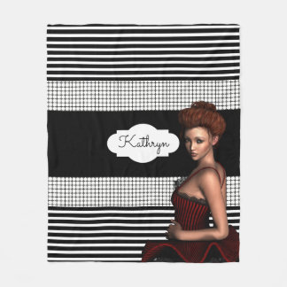 Beautiful Modern Ballerina Fleece Blanket