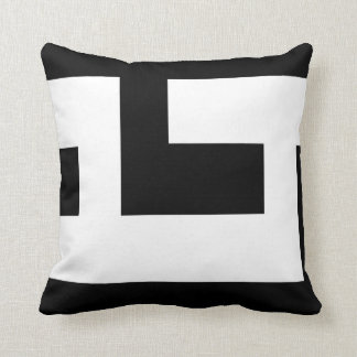 Beautiful Modern Black and White 2 Throw Pillow