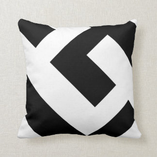 Beautiful Modern Black and White Cushion