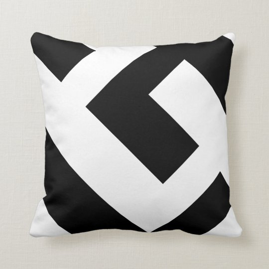 Beautiful Modern Black and White Throw Pillow