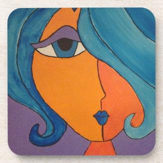 Beautiful Modern Pop Art Portrait Coasters